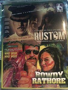Details about DVD Rustom & Rowdy Rathore Hindi Movie 2 In 1 Hindi movie