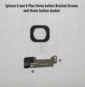meet 38fe2 b9167 Details about iPhone 6 and 6 Plus Home Button Bracket + Screws + New Gasket