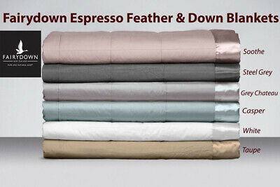 Amicable Fairydown Espresso Feather & Down Blankets Soothe Steel Grey White
