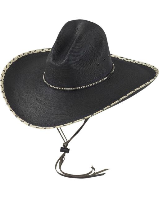 Larry Mahan 30X Pancho Gus Palm Straw Western Hat MS 7681PNCO