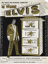 "Elvis Presley Pearl Harbor 16"" x 12"" Photo Repro Concert Poster"