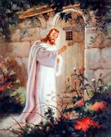 Jesus Christ Knocking At The Door Religious And Spiritual Art Print Poster 8x10