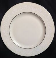 """LENOX LINEN ROSE 8"""" SALAD PLATE IVORY BONE CHINA NEW With Tags"""