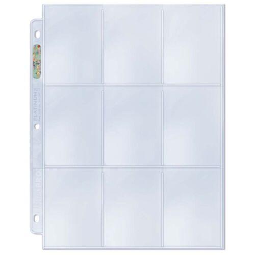 25 Ultra Pro Platinum 9-pocket páginas Hojas Protectores Nuevo