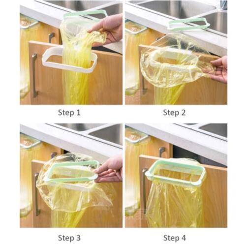 Bag Trash Garbage Rack Plastic Holder Kitchen Hanging Door Portable Holder LE