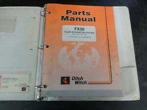 ditch witch fx30 fluid excavator system parts manual 01pl 01 01 053 rh ebay com Ditch Witch FX30 Specs Ditch Witch FX50
