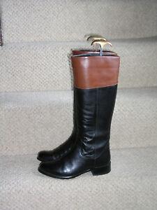 37 Leather High Black Size Riding Knee Tan 4 Next Boots Ax7qzOw6