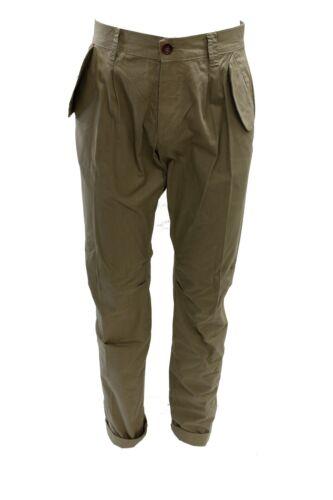 Pantalone da uomo lungo beige RRD casual moda cotone tasche