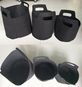 1/2/3Gal Black Plant Grow Bag Vegetable Flower Aeration Planting Pot Container