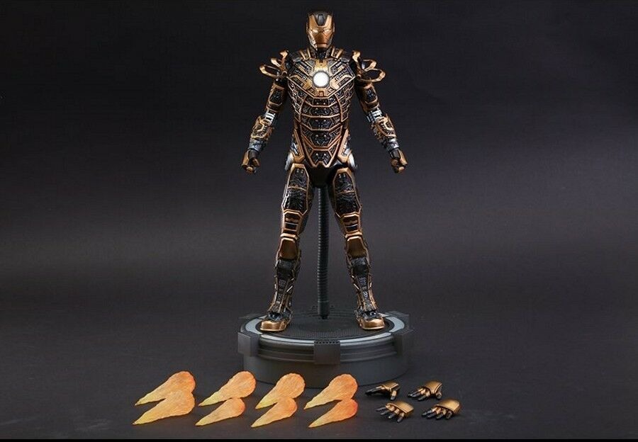 Hot Toys MMS251 Iron Man 3 Movie 1 6 Échelle 12  Mark XLI 41 OS Scellé Chargeur
