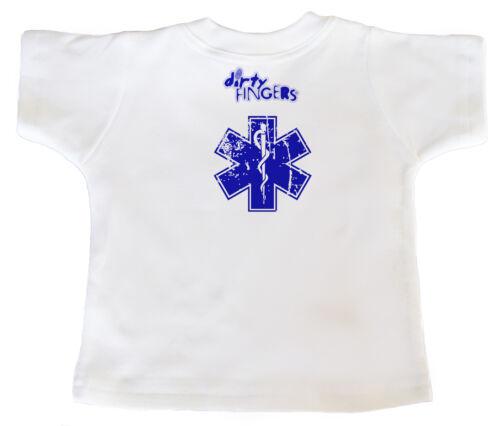 """DF Baby T-Shirt All über /"""" Born to be a Sanitäter MAG MEIN DADDY /"""" Krankenwagen"""