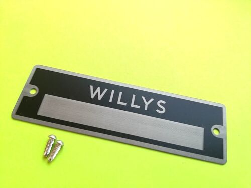 Car ID Identification plate VIN Tag for Willys Jeep Rivets pre drilled