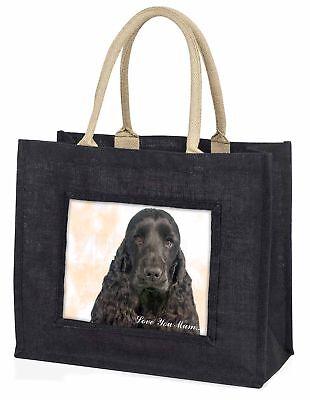 schwarze Cockerspaniel' Liebe,die sie Mama' große Einkaufstasche Chri