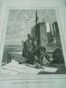 La Fourniture Gravure 1873 - Le Favori De La Veille D'après A. Maignan RéSistance Au Froissement