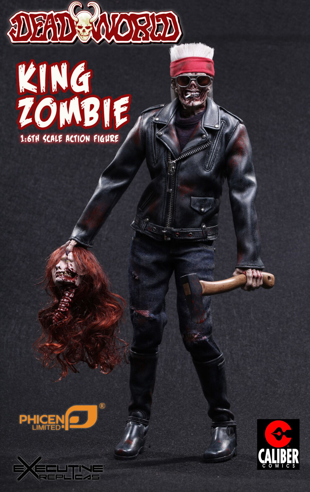 1/6 Phicen muertos mundo Rey Zombie Figura De Acción-guerreros figura menta en caja en mano