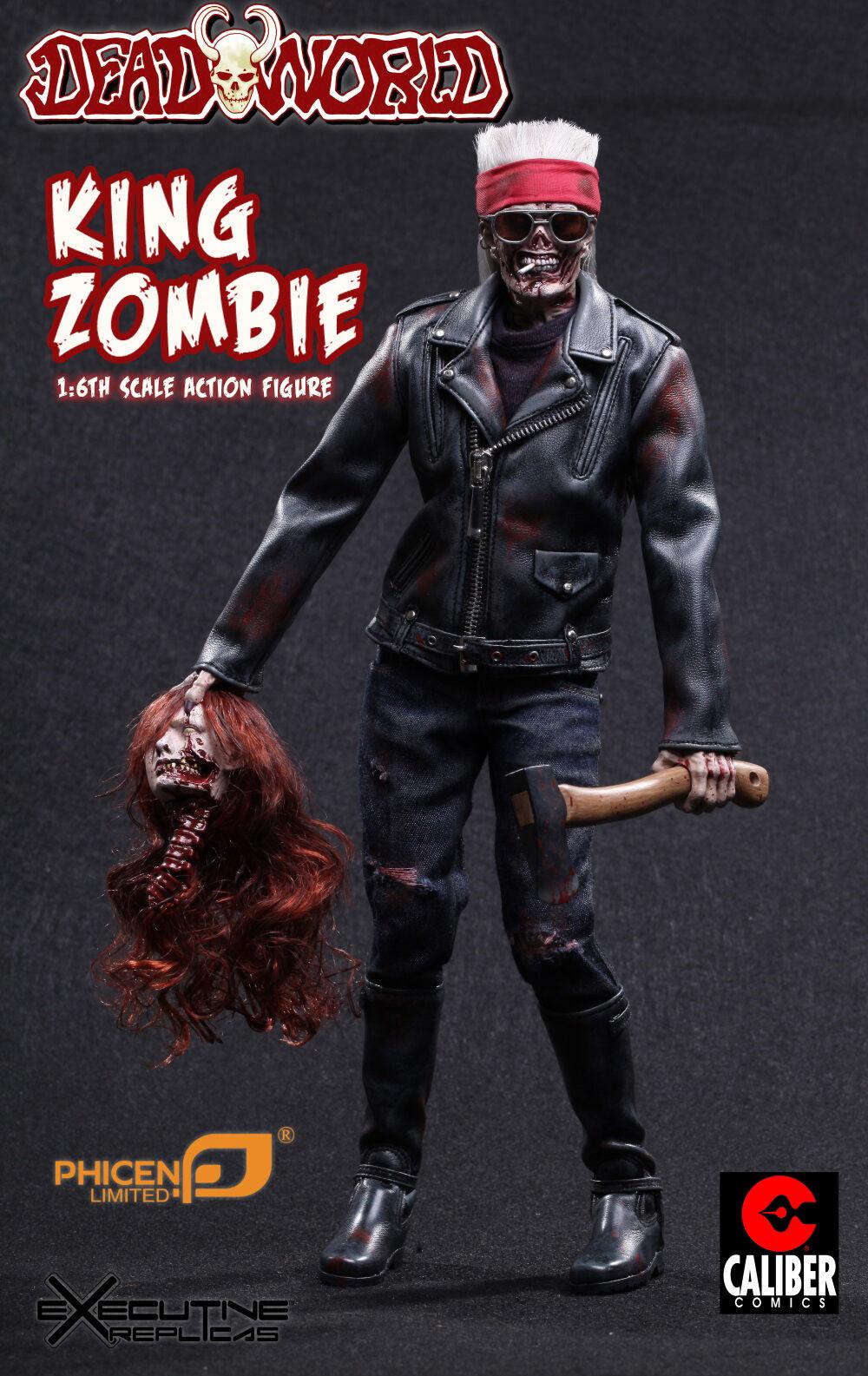 1 6 Phicen Dead World King Zombie Action Figure - Warriors figure MIB in Hand