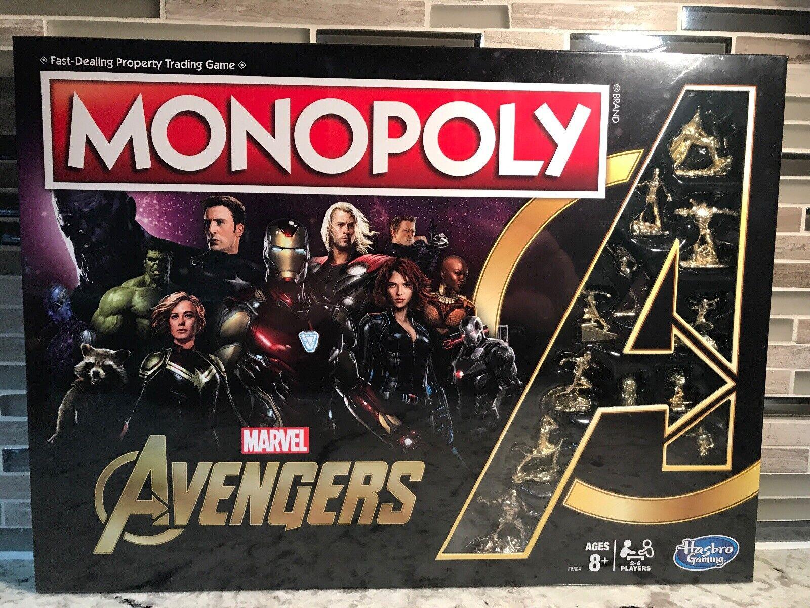 Marvel Avengers End Game Monopoly Brand New Sealed