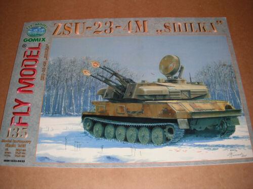 by Fly Model Gomix Paper Card Model ZSU-23-4M Shilka
