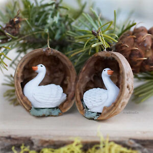 Swan in Natural Walnut Shell Ornaments Unique Handmade Gifts and Souvenirs & NEW! Swan in Natural Walnut Shell Ornaments Unique Handmade Gifts ...