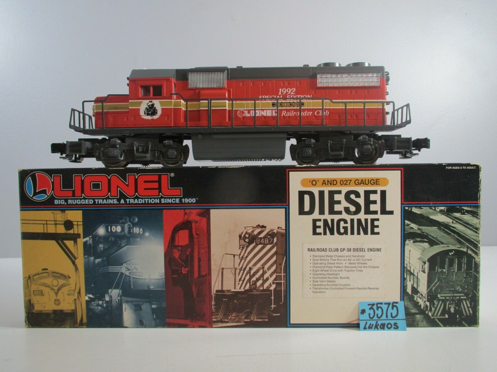 Lionel GP-38 Diesel Motor 1992 ferroCocherilero Club 6-18818 O.B.