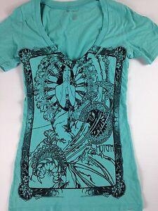 Moteph-Shirt-Deep-V-Neck-Womens-Mermaid-Skull-Peace-Feathers-Lips-Sexy-Rose-Afro