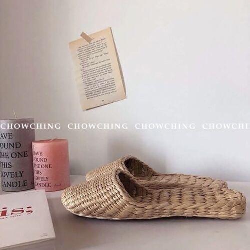 un infradito in naturale con unisex intrecciati paglia paio sandali di Infradito O54wn