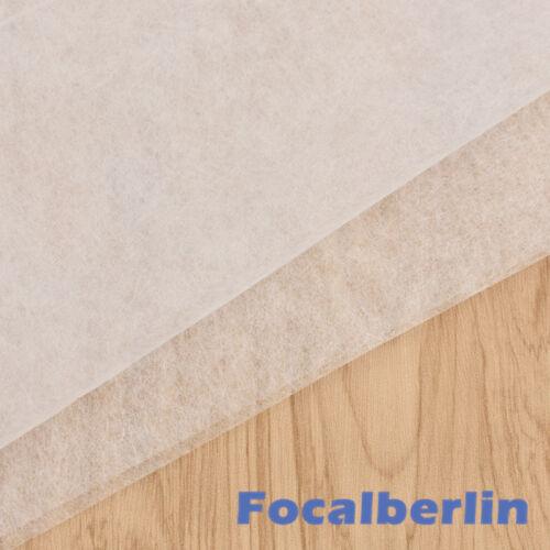 Polstervlies Futterstoff Vliesstoff Doppelseitig Meterware Sebstklebend Weiß DIY
