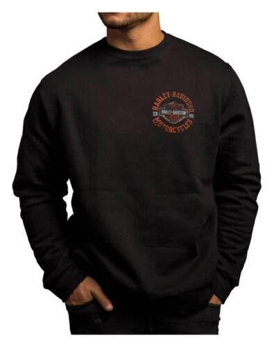 Harley-Davidson Men/'s Strange Gear à encolure ras-du-cou Pull en polaire noir 5T36-HC71