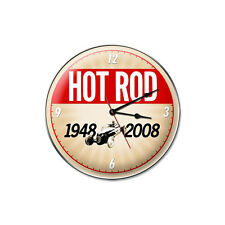 60th Anniversary Hot Rod - Wall Clock - Hand Made in the USA with American Steel