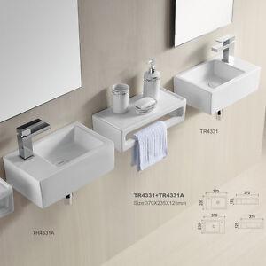 Details Zu Eckig Klein Gäste Wc Waschbecken Waschtisch Aufsatzbecken Wandmontage 37 X 24 Cm