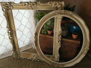 Antique Wood Ornate PICTURE FRAME Lot Gesso Recycle Art Deco Estate Sale Vintage