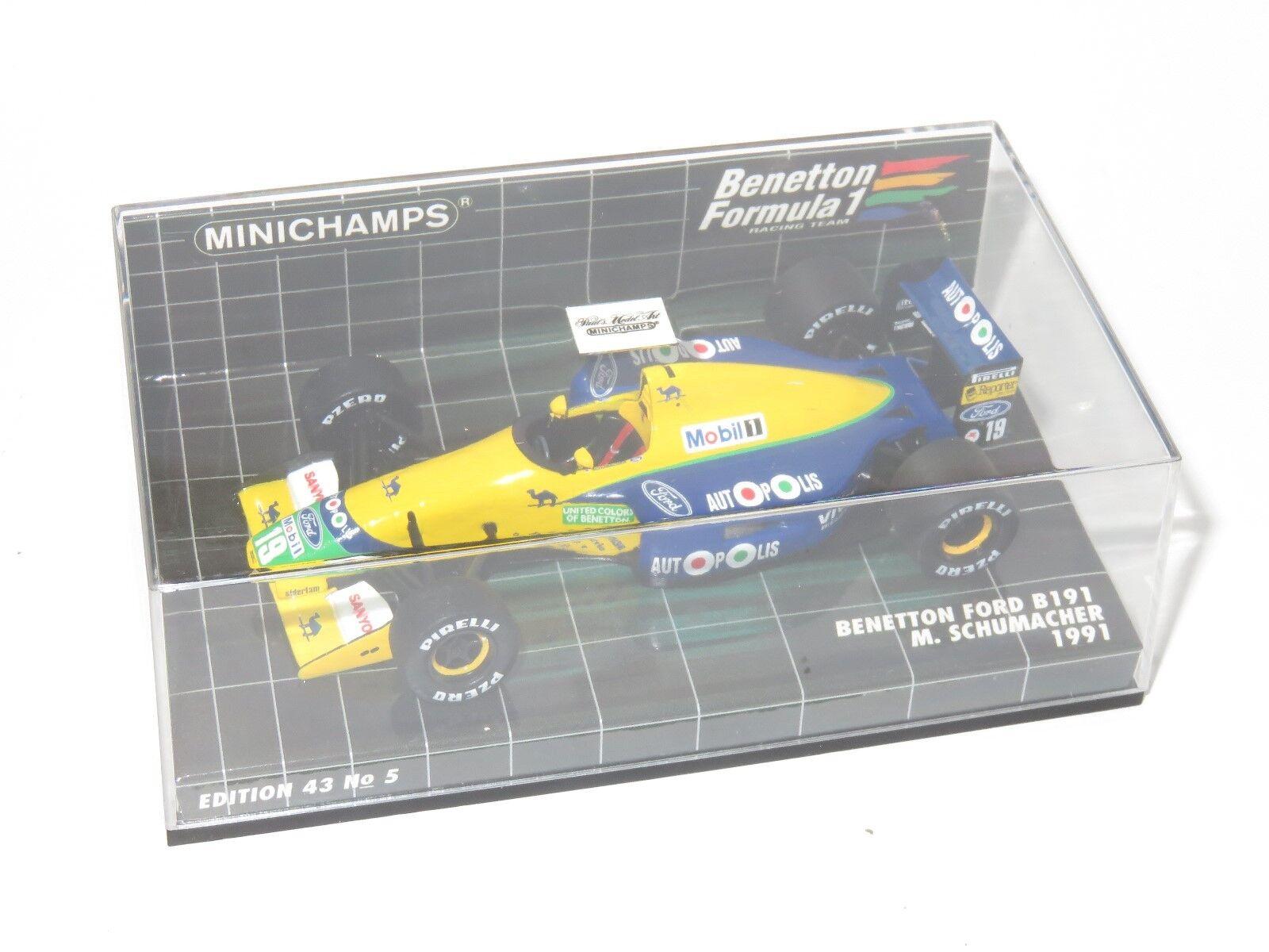 1 43 Benetton Ford B191 saison 1991 M. Schumacher