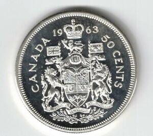 CANADA 1963 50 CENT HALF DOLLAR QUEEN ELIZABETH CANADIAN .800 SILVER COIN