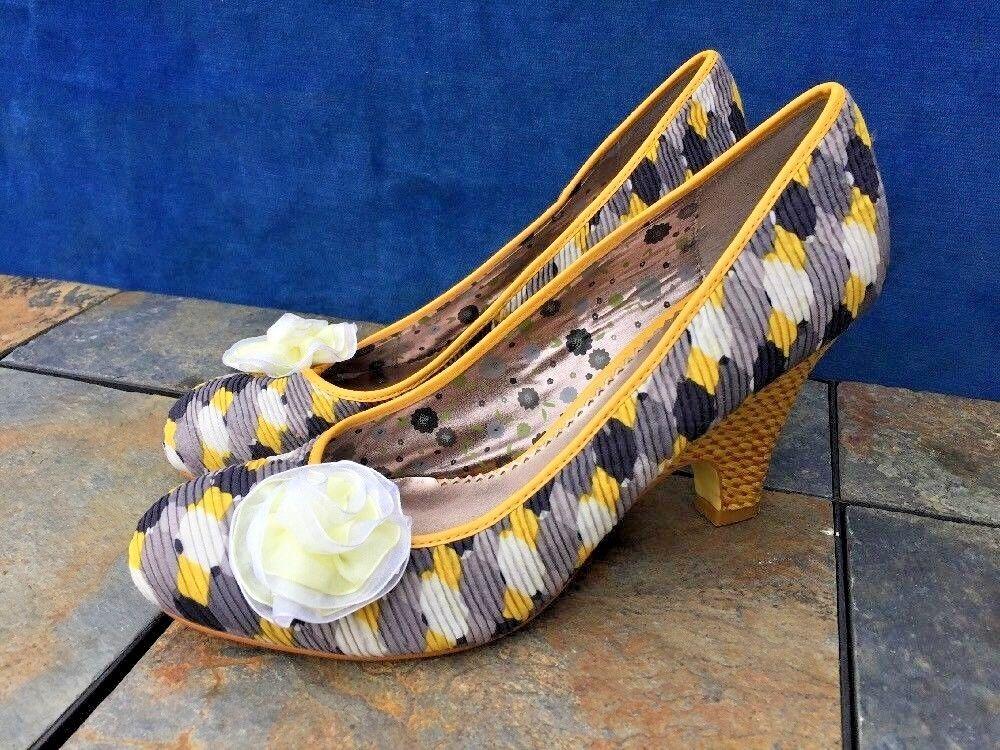 POETIC LICENCE Rosa Bow & Polka Heels Dots Pumps Wedges High Heels Polka schuhe damen Größe 9 2c687e