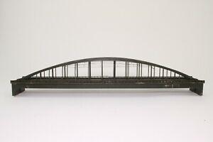 2-x-Arnold-6190-Spur-N-Doppelbruecke-Bogenbruecke-mit-Oberleitung-fertig-aufgebaut