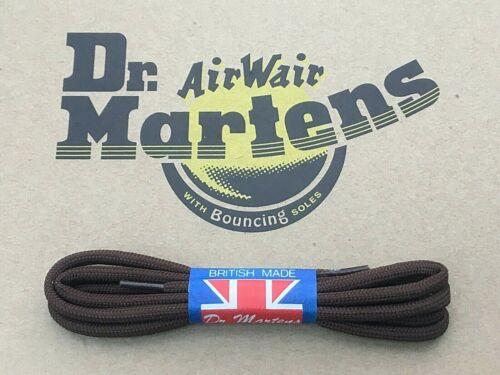 Martens Une paire 4 mm marron 60 cm Rond Cordon Chaussure Lacets 3//4 oeillets NEUF Dr