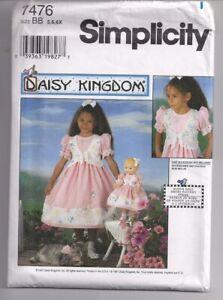 DAISY-KINGDOM-9424-Child-039-s-Dress-amp-17-034-Doll-Dress-Sewing-Pattern-Sz-5-6-6x-UNCUT