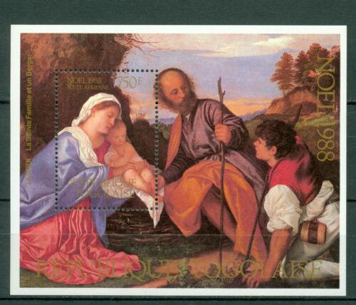 Togo 1988, Art , Christmas, Sc #1487, Souvenir Sheets, MNH, 309