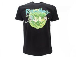 T-shirt-Originale-Rick-and-Morty-maglia-ufficiale-Nera-SWIM-sparati-maglietta
