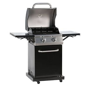 2-Burner-Gas-Grills-Outdoor-Barbeque-Grill-BBQ-Cooker-W-Sider-Table-portable