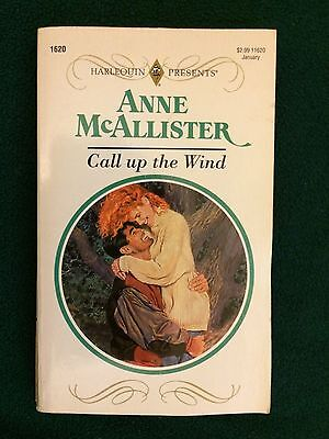 Vintage Call Up The Wind Anne McAllister Paperback Book Harlequin Romance Novel