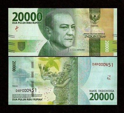 Indonesia 20,000 Rupiahs 2013 UNC**New Date