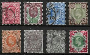 KEVII-Small-Fine-V-Fine-Used-Group-With-Values-To-1s-Bright-Colours-Ref-12124
