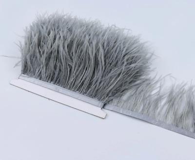 Black White Ostrich Feather Fringe Ribbon Trim Price for 30cm DIY Craft Flytying