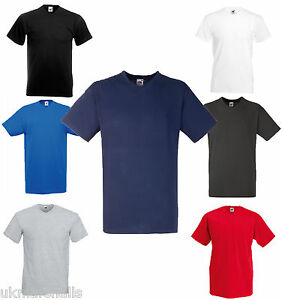 2-V-NECK-FRUIT-OF-THE-LOOM-MENS-T-SHIRTS-S-XXL