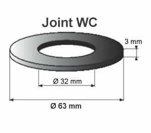 joint WC 63x32x3 mm joint mécanisme WC pour GEBERIT 10000 20000 27000