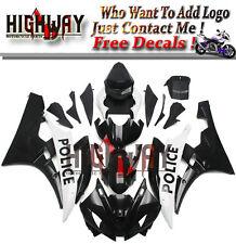 Injection For Yamaha YZF R6 06-07 ABS Fairings Kit Bodywork Black White Police f