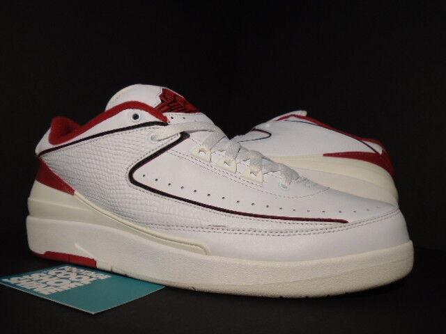 2004 Nike Air Jordan II 2 Retro Low WHITE BLACK RED CHICAGO BULLS 309837-101 9