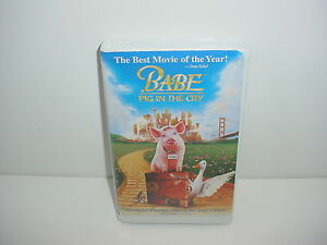 Details about Babe Pig In The City VHS Video Tape Movie Clamshell