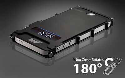 CRKT iNoxCase for iPhone 5 Stainless Steel Black 180 Degree  INOX5K